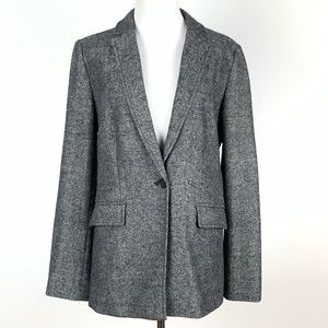 Ann Taylor loft blazer sz 10 45% wool with pockets